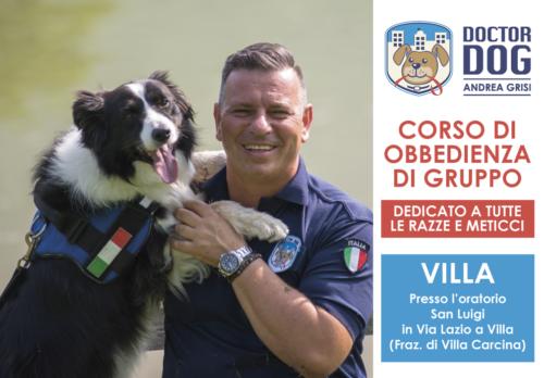 addestramento cani Villa Carcina (Brescia) 4 marzo - 6 maggio