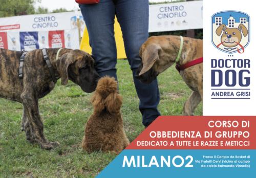 Corso di addestramento cani a Milano 2 - 13 maggio-5 giugno