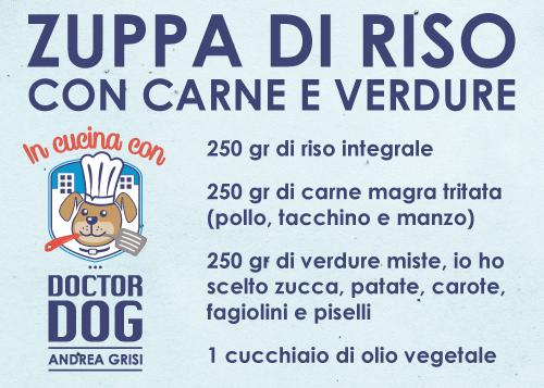 In Cucina Con Doctor Dog - Zuppa di riso, carne e verdure